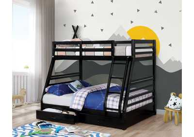 California III Black Twin/Full Bunk Bed