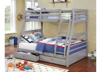 California III Gray Twin/Full Bunk Bed