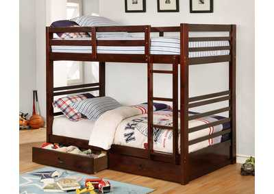 California IV Espresso Twin/Twin Bunk Bed