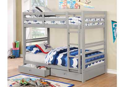California IV Gray Twin/Twin Bunk Bed
