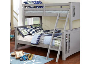 Spring Creek Gray Twin/Full Bunk Bed