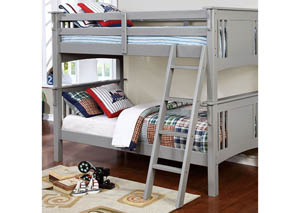 Spring Creek Gray Twin/Twin Bunk Bed