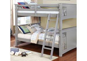 Spring Creek Gray Full/Full Bunk Bed