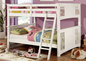 Spring Creek White Full Bunk Bed