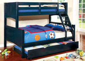 Prismo ll Blue Full Bunk Bed w/Trundle