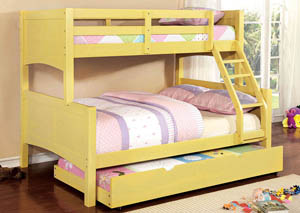 Prismo ll Yellow Full Bunk Bed w/Trundle