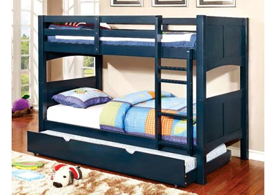 Prismo ll Blue Twin Bunk Bed w/Trundle