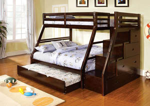 Ellington Dark Walnut Twin Bunk Bed