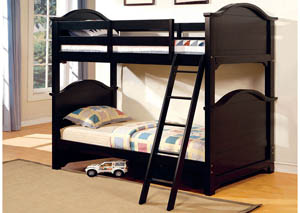 Chesapeake Black Twin/Twin Bunk Bed