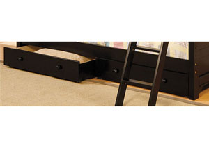 Chesapeake Black Underbed Drawers