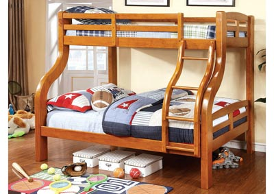 Solpine Oak Twin/Full Bunk Bed