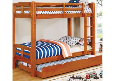 Solphine Oak Twin/Twin Bunk Bed