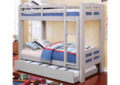 Solphine Gray Twin/Twin Bunk Bed