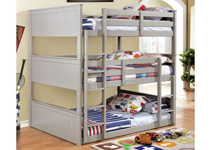 Therese Gray Full Triple Decker Bed