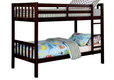 Emilie Dark Walnut Twin/Twin Bunk Bed