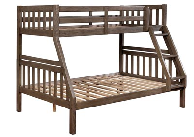 Emilie Gray Twin/Full Bunk Bed