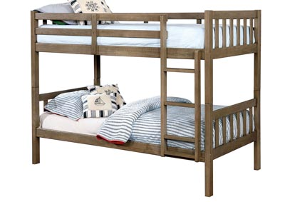 Emilie Gray Twin/Twin Bunk Bed
