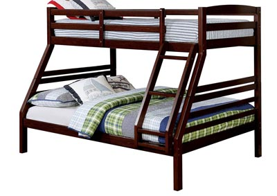 Elaine Dark Walnut Twin/Full Bunk Bed