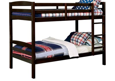 Elaine Dark Walnut Twin/Twin Bunk Bed