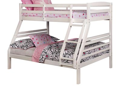 Elaine White Twin/Full Bunk Bed