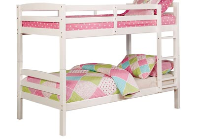 Elaine White Twin/Twin Bunk Bed