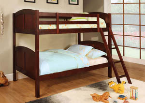Rexford Cherry Twin/Twin Bunk Bed w/Trundle