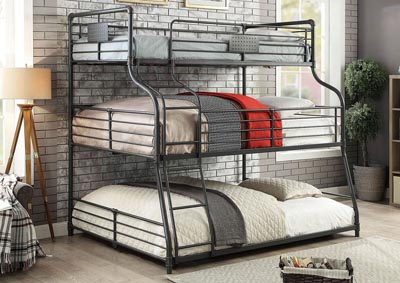 Olga III Sand Black Twin/Full/Queen Bunk Bed