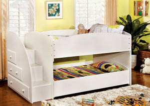 Merritt White Twin Bunk Bed