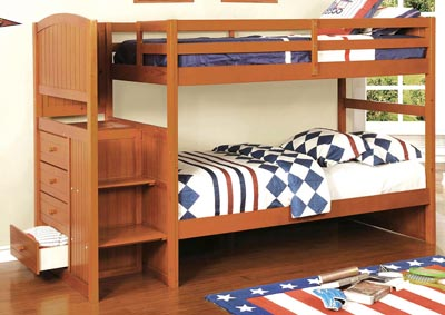 Appenzell Oak Twin/Twin Bunk Bed