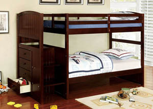 Appenzell Espresso Twin Bunk Bed