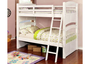 Cassia White Twin/Full Bunk Bed
