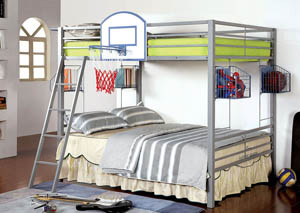 Athlete Gray Full/Full Metal Bunk Bed
