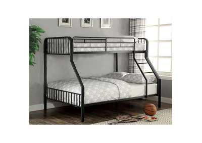 Clement Black Twin/Full Bunk Bed w/Ladder