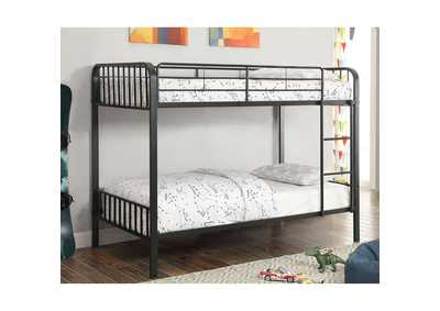 Clement Black Twin/Twin Bunk Bed w/Ladder