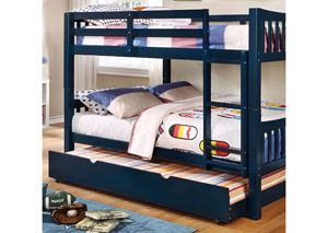 Cameron Blue Full/Full Bunk Bed