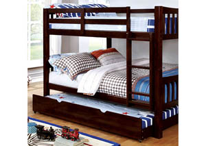 Cameron Dark Walnut Full/Full Bunk Bed