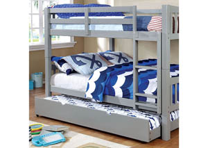 Cameron Gray Full/Full Bunk Bed
