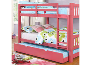 Cameron Pink Full/Full Bunk Bed