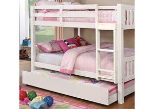 Cameron White Full/Full Bunk Bed