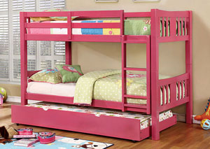 Cameron Pink Twin/Twin Bunk Bed