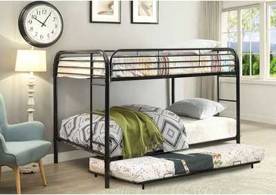 Opal Black Full/Full Metal Bunk Bed