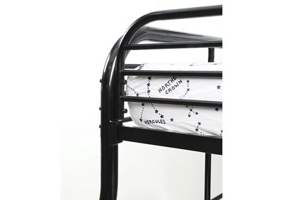 Opal Black Twin/Full Metal Bunk Bed,Furniture of America
