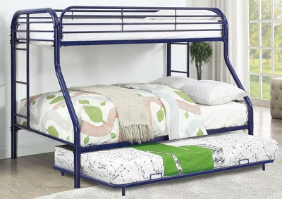 Opal Blue Twin/Full Metal Bunk Bed