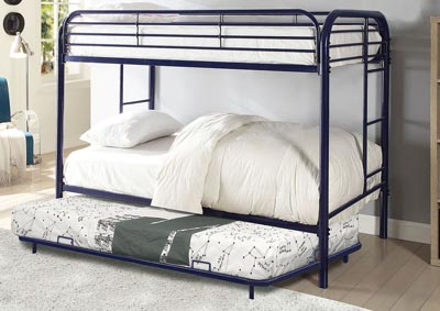 Opal Blue Twin/Twin Metal Bunk Bed
