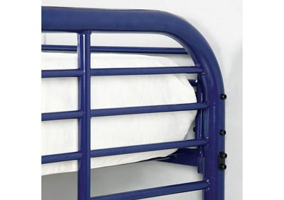 Madison Home Furnishings Opal Blue Twin Twin Metal Bunk Bed