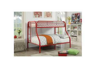 Opal Red Twin/Full Metal Bunk Bed