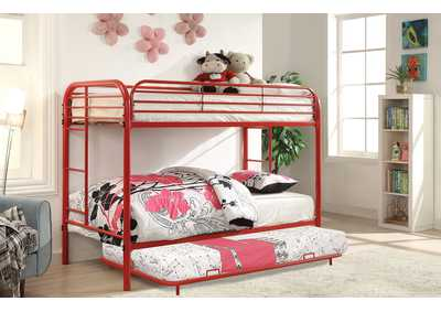 Opal Red Twin/Twin Metal Bunk Bed