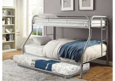 Opal Silver Twin/Full Metal Bunk Bed