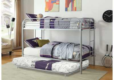 Opal Silver Twin/Twin Metal Bunk Bed
