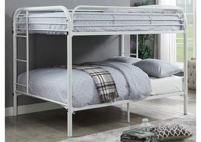 Opal White Full/Full Metal Bunk Bed